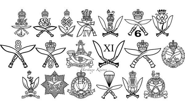 Gurkha Military regiments.